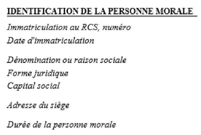 def définition raison sociale dénomination sociale exemple signification